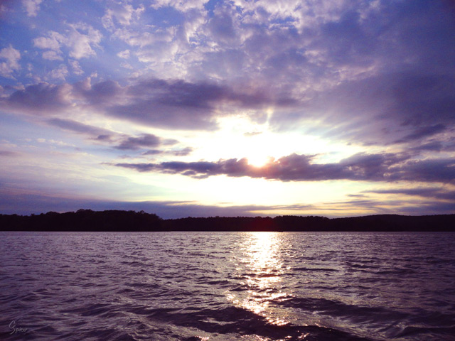 Sunrise at Loch Raven: Digital Photograph by Christopher Spicer