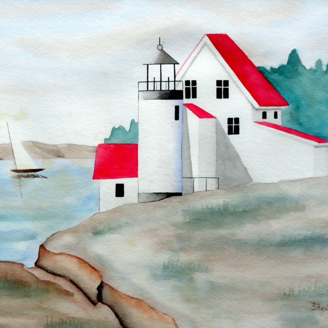 Lighthouse - Painting by Christopher Spicer